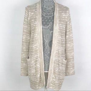 Splendid Knit Open Front Duster Cardigan Sweater